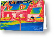 Thermogram Of A House Greeting Card