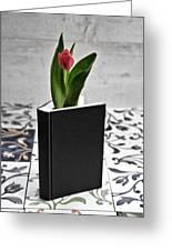 Tulip In A Book Greeting Card
