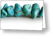 Turquoise Stones Greeting Card