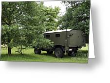 Unimog Truck Of The Belgian Army Greeting Card
