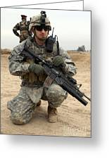 U.s. Army Sergeant Provides Security Greeting Card