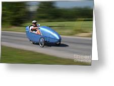 Velomobile Greeting Card
