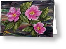 3 Wild Roses Greeting Card