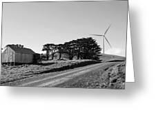 Wind Turbine Greeting Card