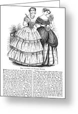 Womens Fashion, 1851 Greeting Card by Granger