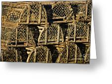 Wooden Lobster Traps Greeting Card