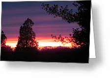 31oct2012 Sunset Four Greeting Card
