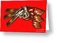 357 Magnum - Painterly - Red Greeting Card