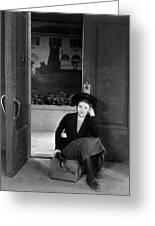 Silent Film Still: Woman Greeting Card