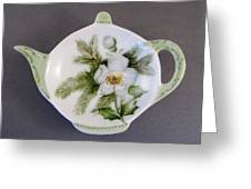 382 Teabag Holder Green Greeting Card by Wilma Manhardt