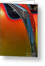39 Ford Deluxe Hot Rod Hood Ornament  Greeting Card