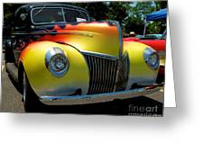 39 Ford Deluxe Hot Rod Greeting Card