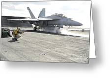 An Fa-18f Super Hornet Launches Greeting Card