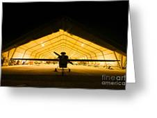 An Rq-5 Hunter Unmanned Aerial Vehicle Greeting Card