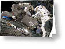 Astronauts Participate Greeting Card