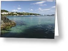 Bay Beside Glandore Village In West Greeting Card