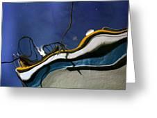 Boat Reflections At Sea Greeting Card