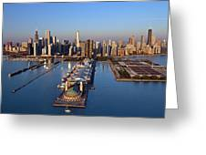 Chicago Skyline Greeting Card by Jeff Lewis