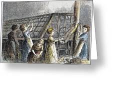 Child Labor, 1873 Greeting Card