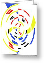 4 Colors Abstract Greeting Card