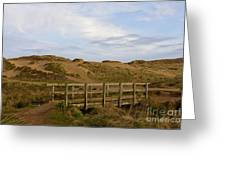 Cornish Seascape Holywell Bay Greeting Card