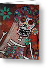 day of the dead BRIDE Greeting Card