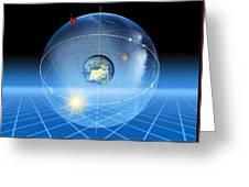 Earth's Rotation, Artwork Greeting Card