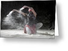 Flour Dancer Series Greeting Card by Cindy Singleton
