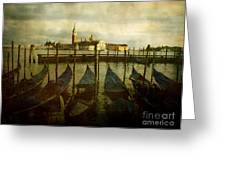 Gondolas. Venice Greeting Card