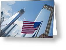 Ground Zero Freedom Tower Greeting Card