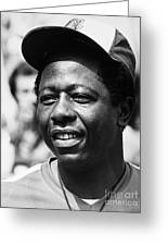 Hank Aaron (1934- ) Greeting Card by Granger