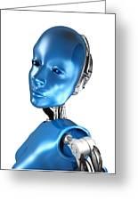 Humanoid Robot, Artwork Greeting Card