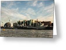 London Skyline Sunset Greeting Card
