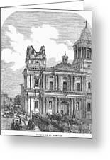 Manila: Earthquake, 1863 Greeting Card