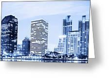 Night Scenes Of City Greeting Card