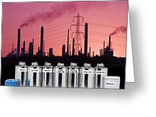 Oil Products Greeting Card by Paul Rapson