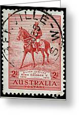 old Australian postage stamp Greeting Card
