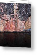Painted Rocks At Hossa With Stone Age Paintings Greeting Card