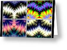 4 Panel Look Hearts Ud Fractal 64 Greeting Card
