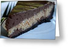 Peanut Butter Chocolate Cheesecake Greeting Card