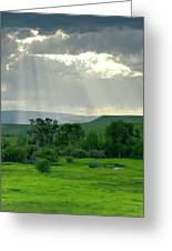 Rain Sun Rays Greeting Card