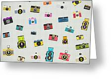 Retro Camera Pattern Greeting Card
