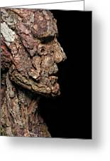 Revered  A Natural Portrait Bust Sculpture By Adam Long Greeting Card
