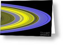 Saturns Rings Greeting Card