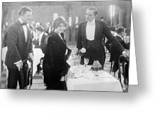 Silent Film: Restaurant Greeting Card