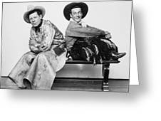 Silent Film Still: Cowboys Greeting Card