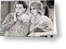 Silent Film Still: Women Greeting Card