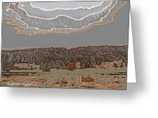 Snowy  Landscape Greeting Card