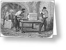 Soap Manufacture, C1870 Greeting Card