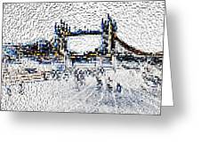 Southbank London Art Greeting Card
